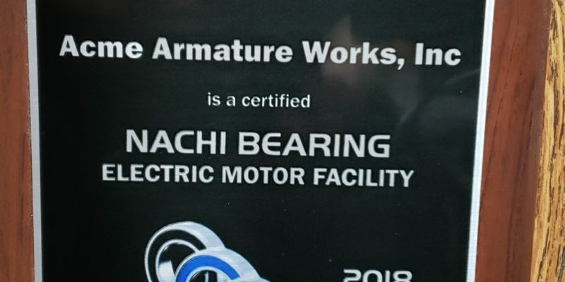 Acme Armature Works secures prestigious Nachi Certified Shop designation